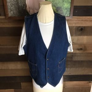 Vintage levis orange tab denim vest medium